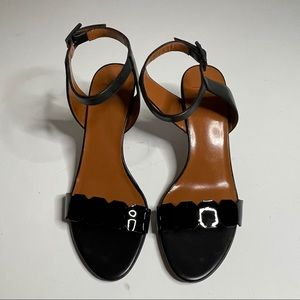 Aquatalia Patent & Leather Sandal black size 6